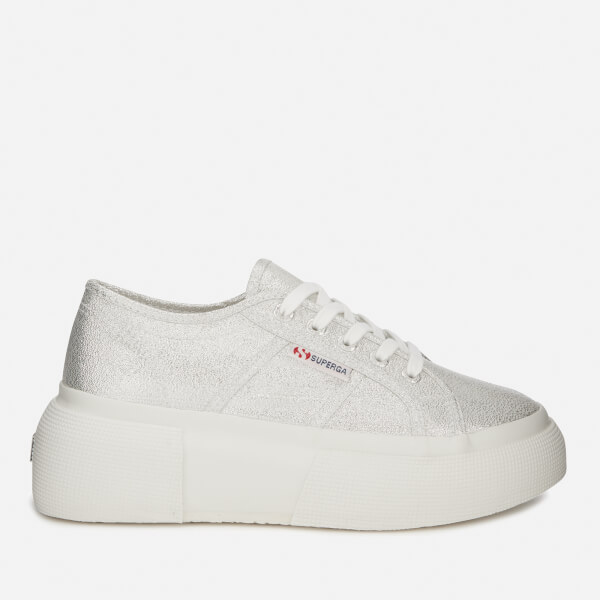 Superga Women s 2287 Lamew Flatform Trainers - Grey Silver Womens ... 351f5897b5