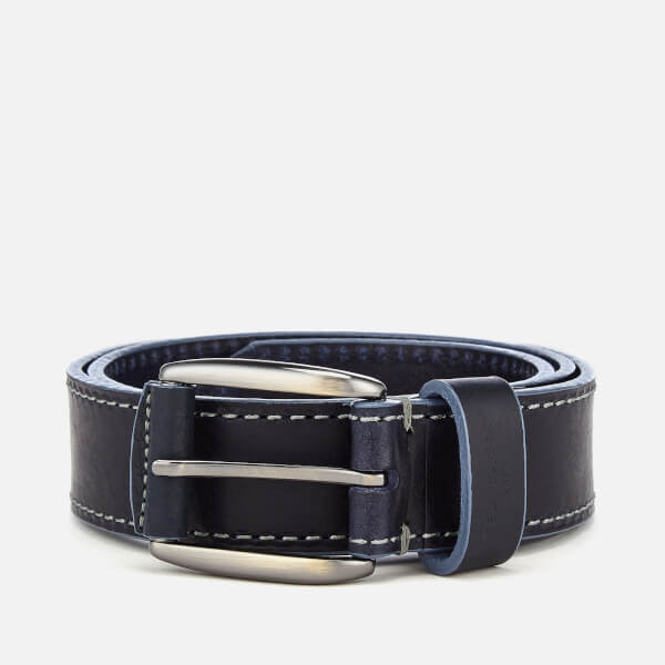 Ted Baker Men's Tirre Contrast Stitch Leather Belt - Navy