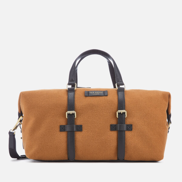 02ee21b08903e Ted Baker Men s Knitts Wool Holdall Bag - Camel  Image 1