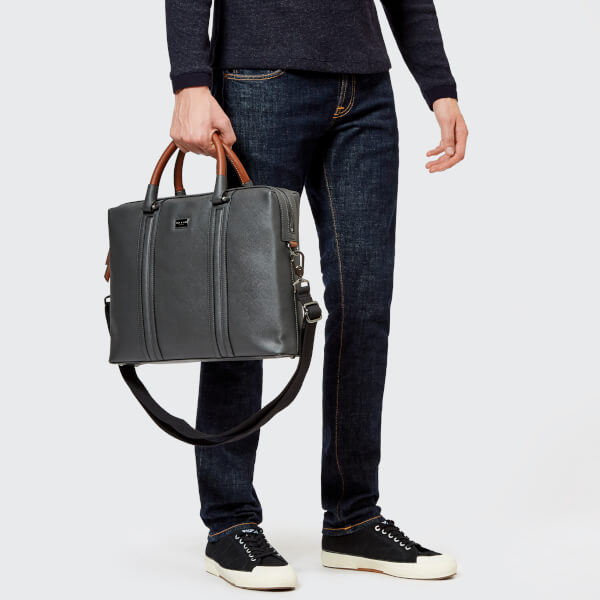 0800668d75 Ted Baker Men s Giiza Crossgrain Document Bag - Charcoal Mens ...
