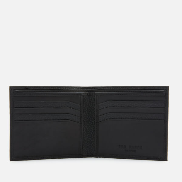 571e342766a5 Ted Baker Men s Looeze Pebble Leather Bifold Wallet - Black  Image 3