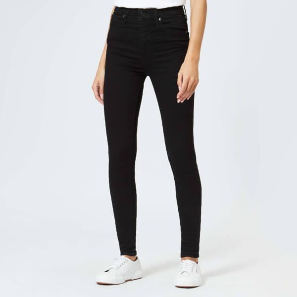 Levi s Women s Mile High Super Skinny Jeans - Black Galaxy Clothing ... 5725beb74