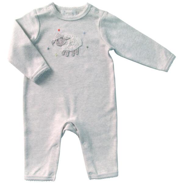 Albetta Crochet Samy Sheep Babygrow - 0-3 Months