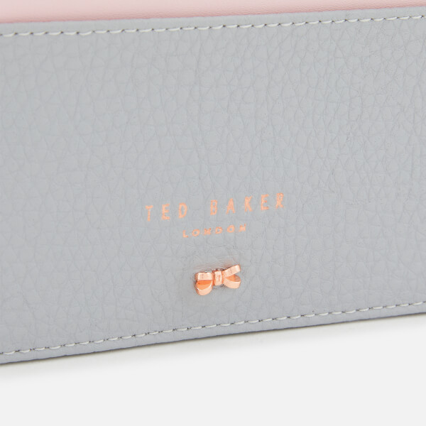 572d73e9c69f02 Ted Baker Women s Lori Textured Zipped Credit Card Holder - Grey  Image 3