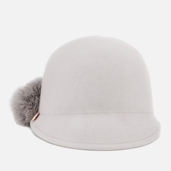 Ted Baker Women s Jaddaa Pom Pom Felt Hat - Grey Womens Accessories ... 6e81c42dfc3d