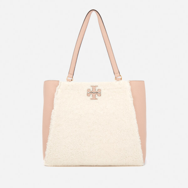 Tory Burch Women's Mcgraw Shearling Carryall Bag - Ivory/Devon Sand