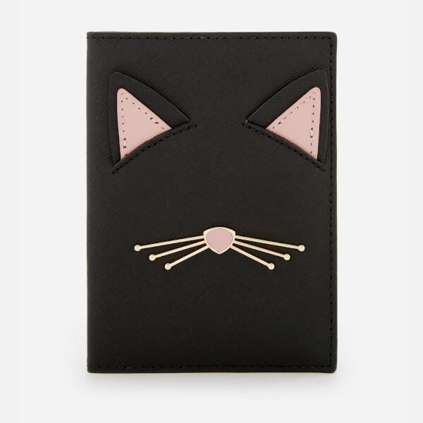 Kate Spade New York Women's Cat Passport Holder - Black Multi