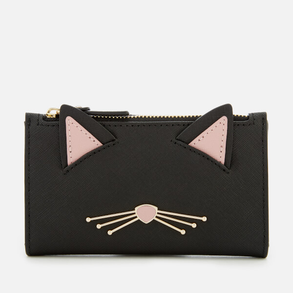 Kate Spade New York Women's Cat Mikey Wallet - Black Multi