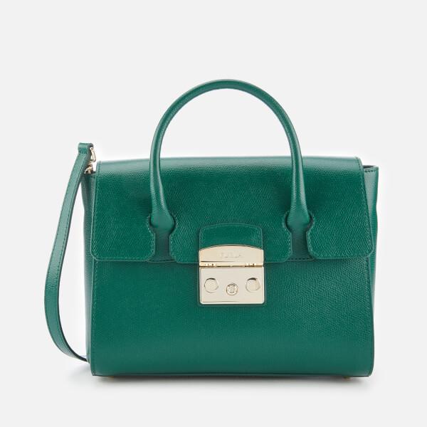 Furla Women's Metropolis Small Satchel   Green by My Bag