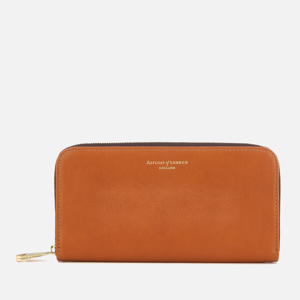Aspinal of London Women's Continental Clutch Wallet - Tan
