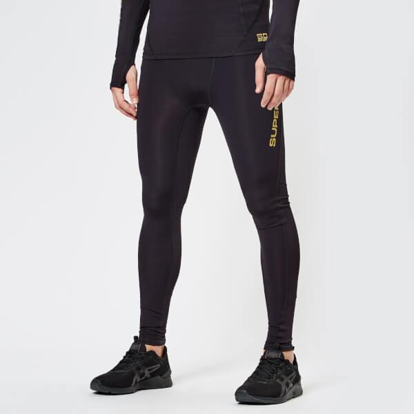 116bab7ea7c6b Superdry Sport Men s Performance Compression Leggings - Black  Image 1