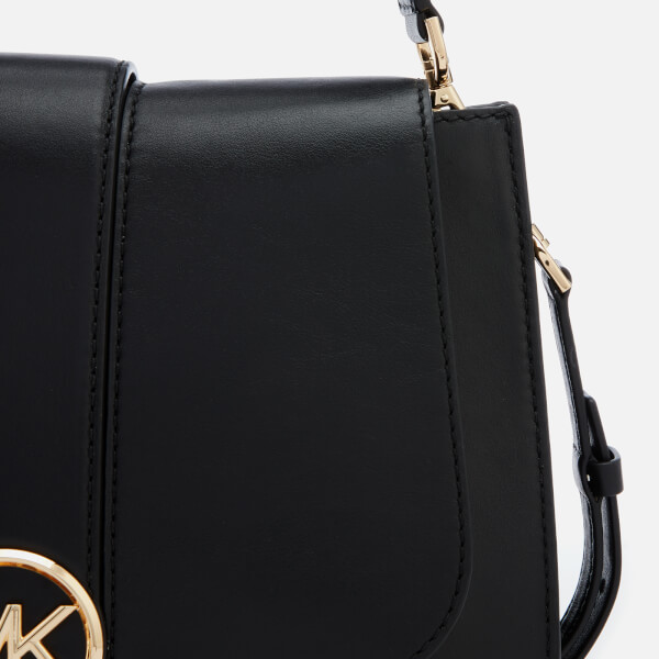 ba5b25555945 MICHAEL MICHAEL KORS Women s Lillie Medium Flap Messenger Bag - Black   Image 4