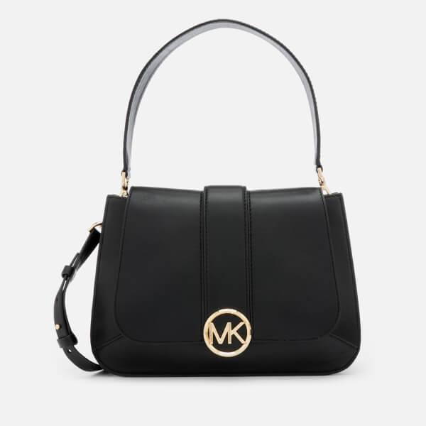 6241bb4e3803 MICHAEL MICHAEL KORS Women s Lillie Medium Flap Messenger Bag - Black   Image 1