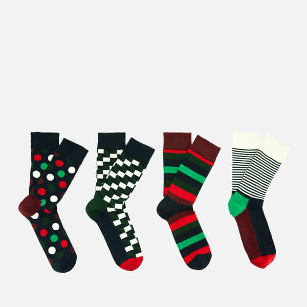 Happy Socks Men's Holiday Big Dot Gift Box - Multi - UK 7.5-11.5