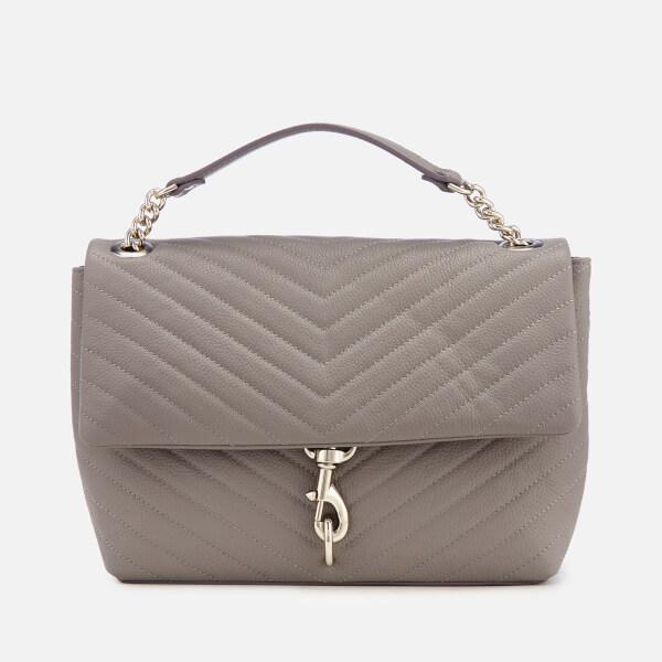 Rebecca Minkoff Women's Edie Flap Shoulder Bag - Grey