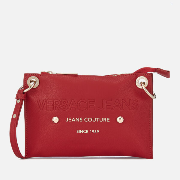 Versace Jeans Women s Logo Cross Body Bag - Red  Image 1 032cf0d1ab