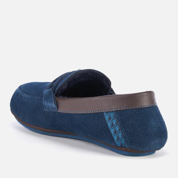 260277078 Ted Baker Men s Valcent Suede Moccasin Slippers - Dark Blue  Image 2