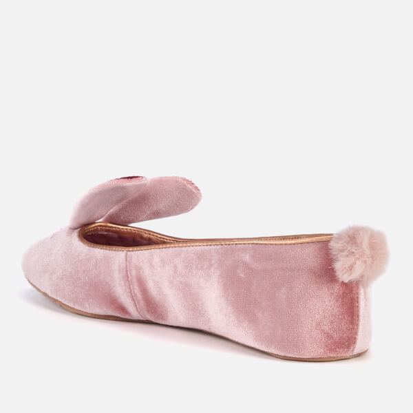 92b6aede219dab Ted Baker Women s Bhunni Velvet Slippers - Rose Womens Footwear ...