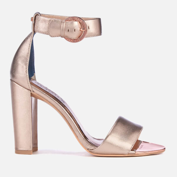 e1b486b2c56c Ted Baker Women s Secoal Block Heeled Sandals - Rose Gold  Image 1