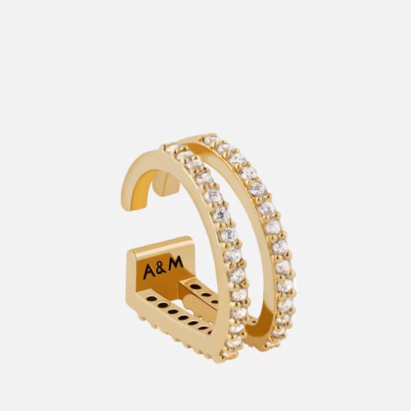 Astrid & Miyu Women's Wishbone Earcuff - Gold