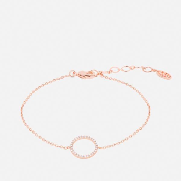 Astrid & Miyu Women's Tuxedo Circle Bracelet - Gold