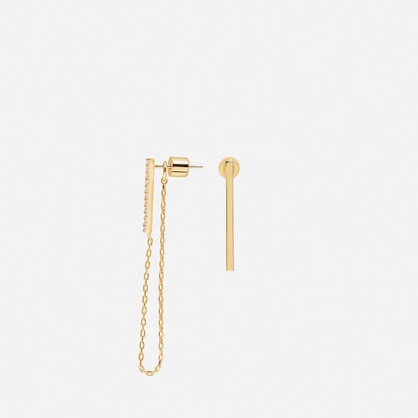 Astrid & Miyu Women's Blurred Lines Earrings - Gold