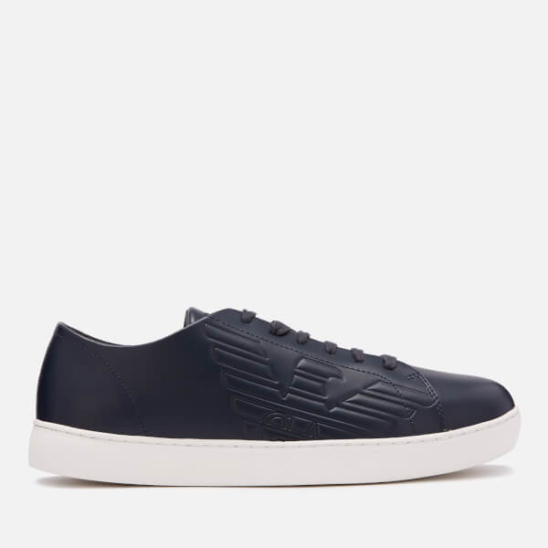 Emporio Armani Men's Stan Leather Low Top Trainers - Night