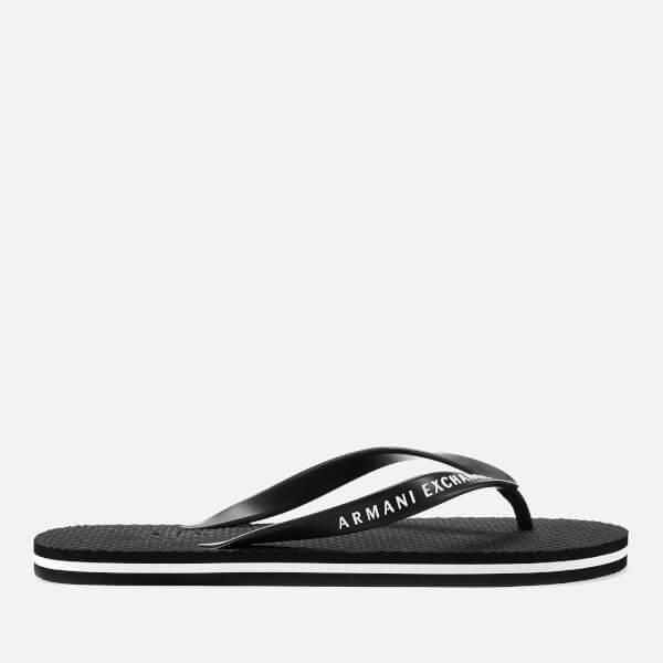 Armani Exchange Men's Flip Flops - Black