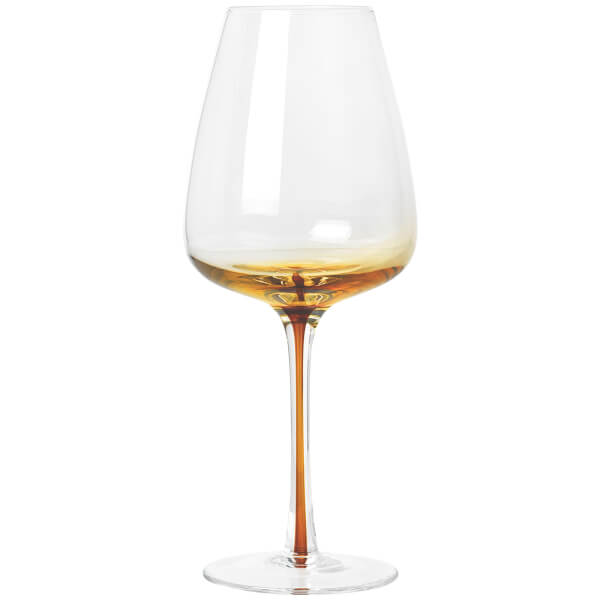 Broste Copenhagen Amber White Wine Glass - Mouthblown Caramel