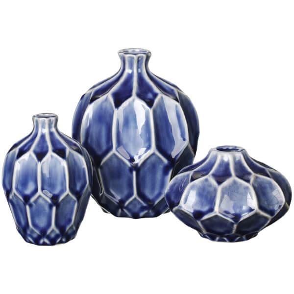 Broste Copenhagen Amalfi Ceramic Vase - Astral Aura (Set of 3)