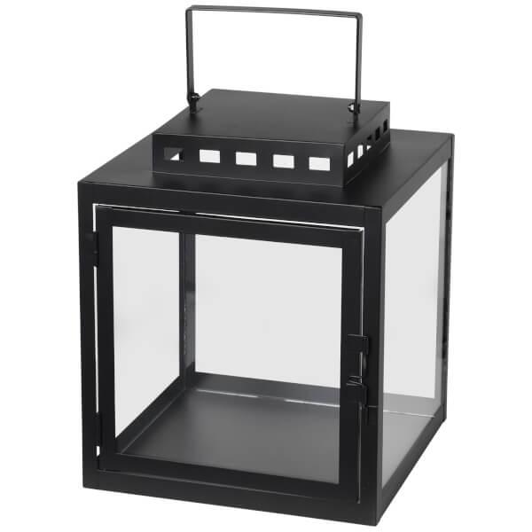 Broste Copenhagen Noah Lantern - Glass Black - Small