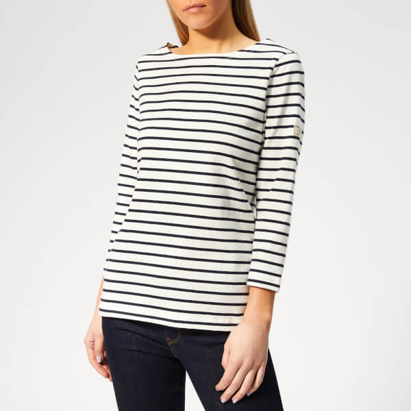 Joules Women's Harbour Stripe Top - Cream/Navy/Stripe