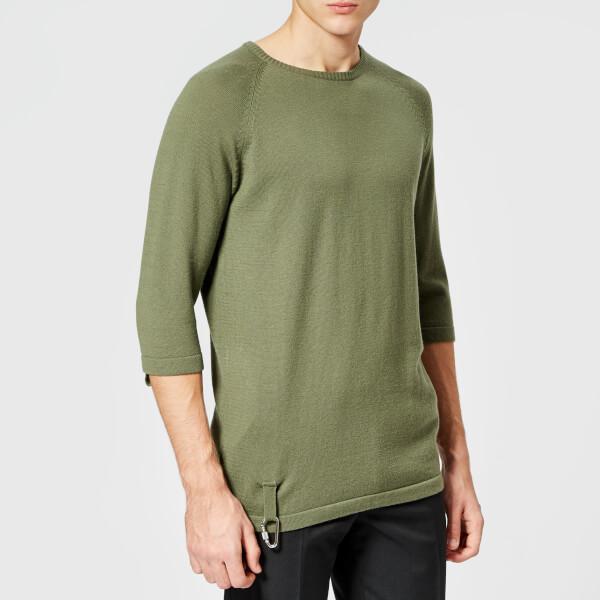Matthew Miller Men's Lochlan O Knitted T-Shirt - Green