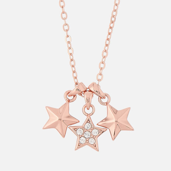 Ted Baker Women's Shami Pavé Shooting Star Cluster Pendant - Rose Gold/Crystal