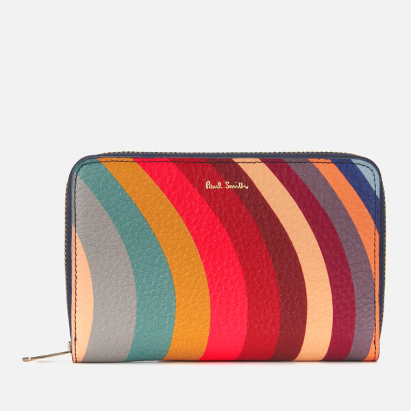 Paul Smith Women's Swirl Medium Zip Around Purse - Multi