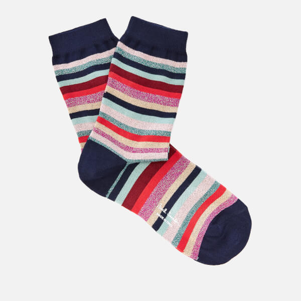 Paul Smith Women's Lurex Stripe Clarissa Socks - Multi