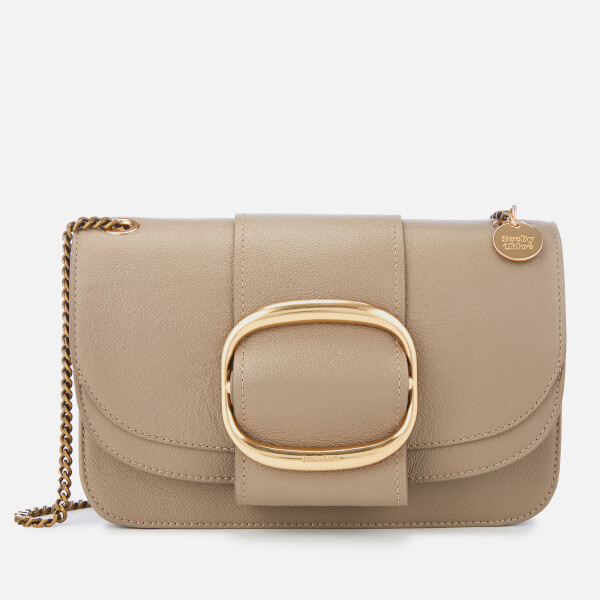 See By Chloé Women's Large Hopper Cross Body Bag - Motty Grey
