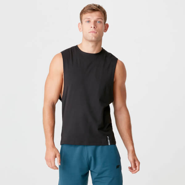 Myprotein Luxe Classic Drop Armhole Tank Top - Black