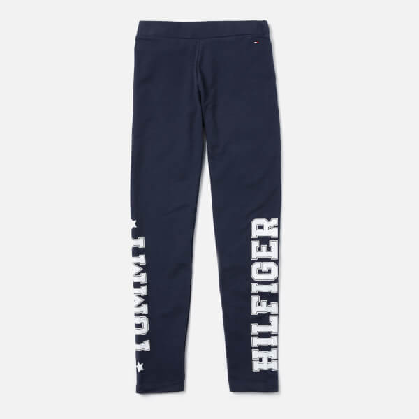 Tommy Hilfiger Girls' Essential Branded Leggings - Navy
