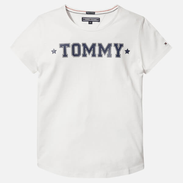 Tommy Hilfiger Girls' Essential Tommy T-Shirt - White