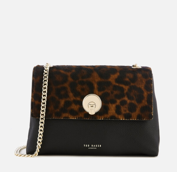 775d2eecbc568 Ted Baker Women s Luccie Leopard Circle Lock Cross Body - Black  Image 1