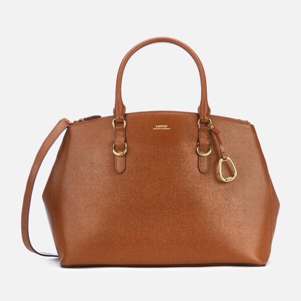 Lauren Ralph Lauren Women's Bennington Double Zip Medium Satchel Bag - Lauren Tan