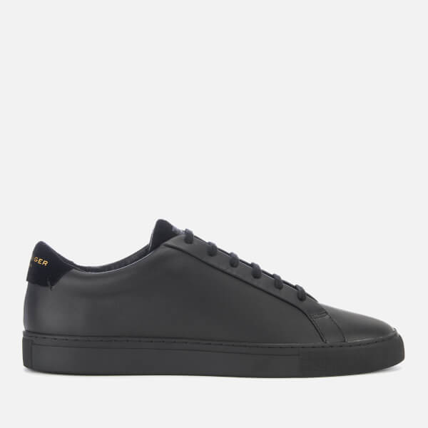 Kurt Geiger London Men's Donnie Leather Cupsole Trainers - Black