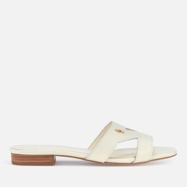 Kurt Geiger London Women's Odina Leather Flat Sandals - Bone