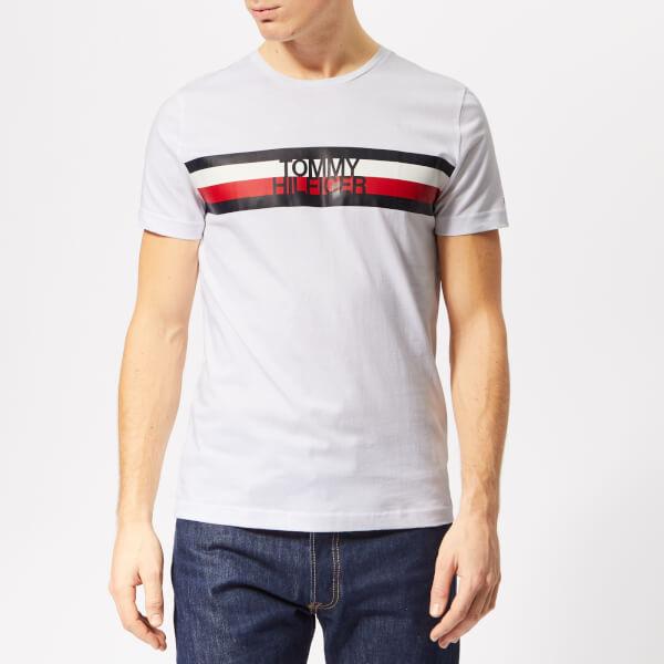 af7c275f9cbdd0 Tommy Hilfiger Men s Tommy Logo T-Shirt - Bright White Clothing ...