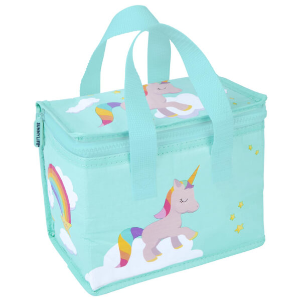 Vintage Child At Sunny Beach With Travel Suitcase Stock: Sunnylife Unicorn Lunch Tote Bag Womens Accessories