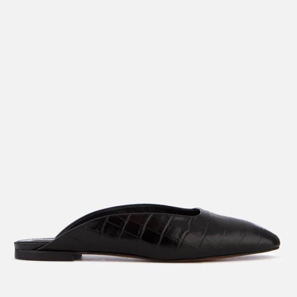 Whistles Women's Netley Slip-On Heeled Mules - Black Croc
