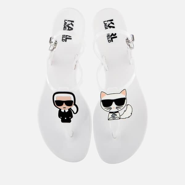 Karl Lagerfeld Women's Jelly Karl Ikonik Sandals - White