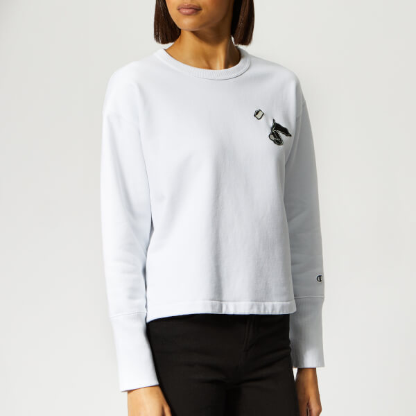 Champion X Wood Wood Women's Lucy Crew Neck Sweatshirt - White