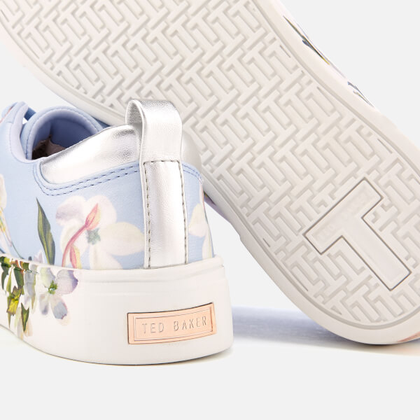 e2f11b87a7bc Ted Baker Women s Orosa Floral Low Top Trainers - Graceful Blue  Image 4